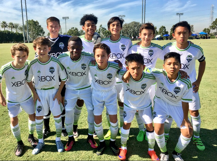 Nathan Berg, 13, Participates in LA Showcase with Seattle Sounders Academy